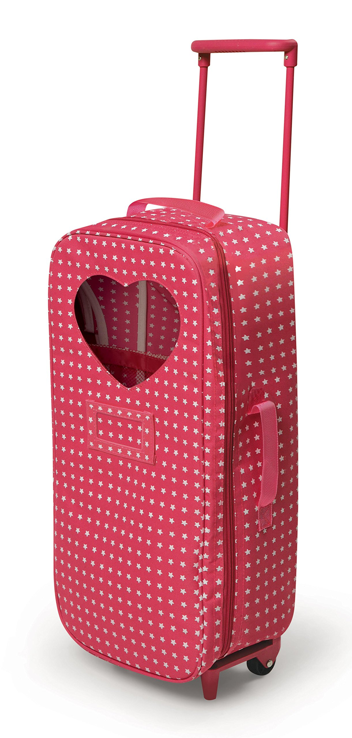 Badger Basket Trolley Doll Travel Case With Rocking Bed Fits American Girl Dolls Star Pattern