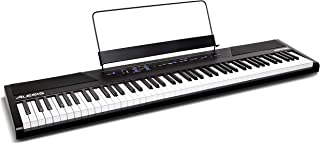 Alesis Recital | 88 Key Beginner Digital Piano / Keyboard with Full Size Semi Weighted Keys, Power Supply, Built In Speakers and 5 Premium Voices (Amazon Exclusive) (Renewed)