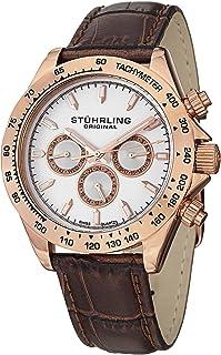 ساعة يد تريمف كلاسيك بسوار جلدي ونافذة مينا بيضاء للرجال من ستيرلينج اوريجنال - 564L.03