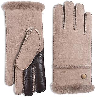 YISEVEN Women's Merino sheepskin Shearling Leather Gloves Fur Cuff