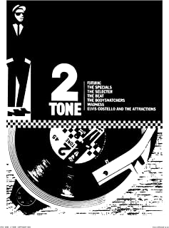 OnTheWall Two Tone, Ska, Specials Pop Art Poster Print by Wig (OTW066)
