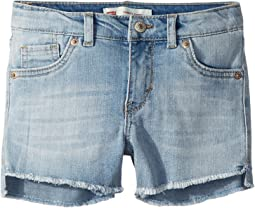 Altered Denim Shorty Shorts (Little Kids)