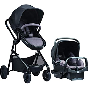 Pivot Modular Travel System with SafeMax Infant Car Seat, Lightweight Baby Stroller, Easy Infant Car Seat Transfer, Casual Gray