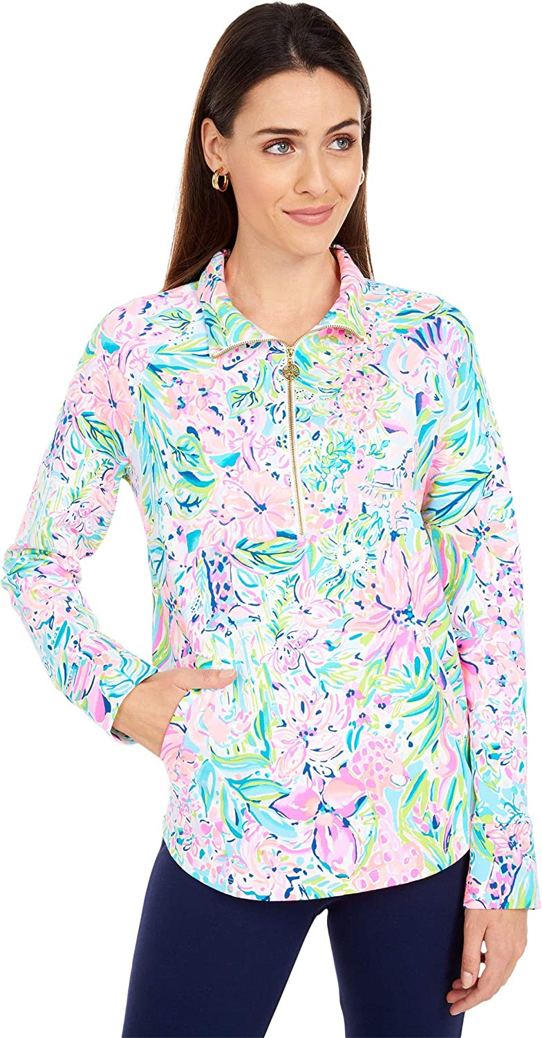 Lilly Pulitzer Women's UPF 50 Inventory cleanup selling sale Hem Round Sales Popover Skipper