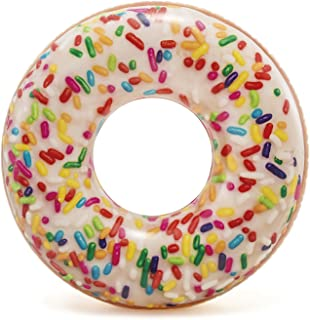 Intex Rainbow Sprinkle Donut Tube Inflatable Pool Float