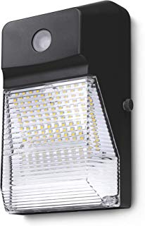 Hyperikon LED Wall Pack Outdoor Light, 15W, Security Wall Sconce Fixture, Photocell Included, Clear