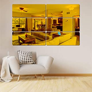Best Decor 6 Frame Golden Code 786 Acrylic Mirror 3D Wall Sticker Decoration for Kids Room/Living Room/Bedroom/Office/Home...