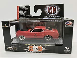 M2 Machines Detroit-Muscle 1969 Ford Mustang GT 50 Years Limited Edition MT01 14-21 Red Details Like NO Other! Over 42 Parts 1 of 6000 Worldwide