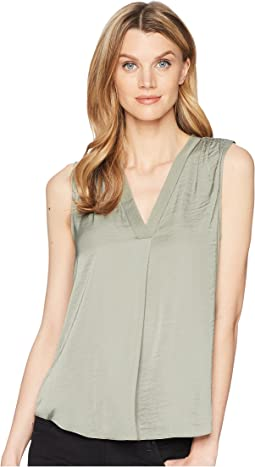 Vince Camuto Sleeveless V-Neck Rumple Blouse