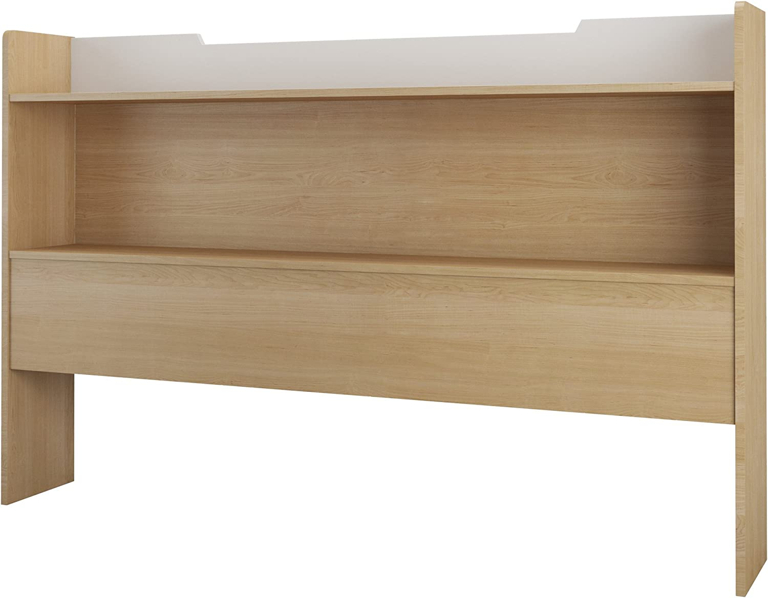 Nexera Queen Daily bargain sale Size Limited time cheap sale Bookcase Maple Natural White Headboard