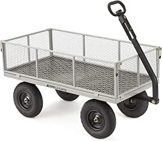 Gorilla Carts GOR1001-COM Heavy-Duty Steel Utility Cart with Removable Sides, 1000-lbs...
