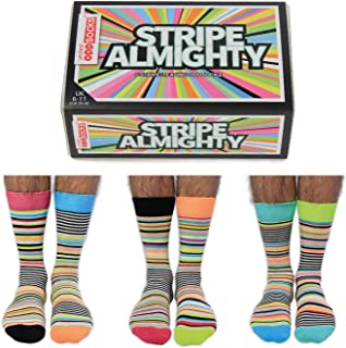 diseño de rayas Almighty – 6 Oddsocks, para hombre, 39 – 46 US 7 – 12, multicolor