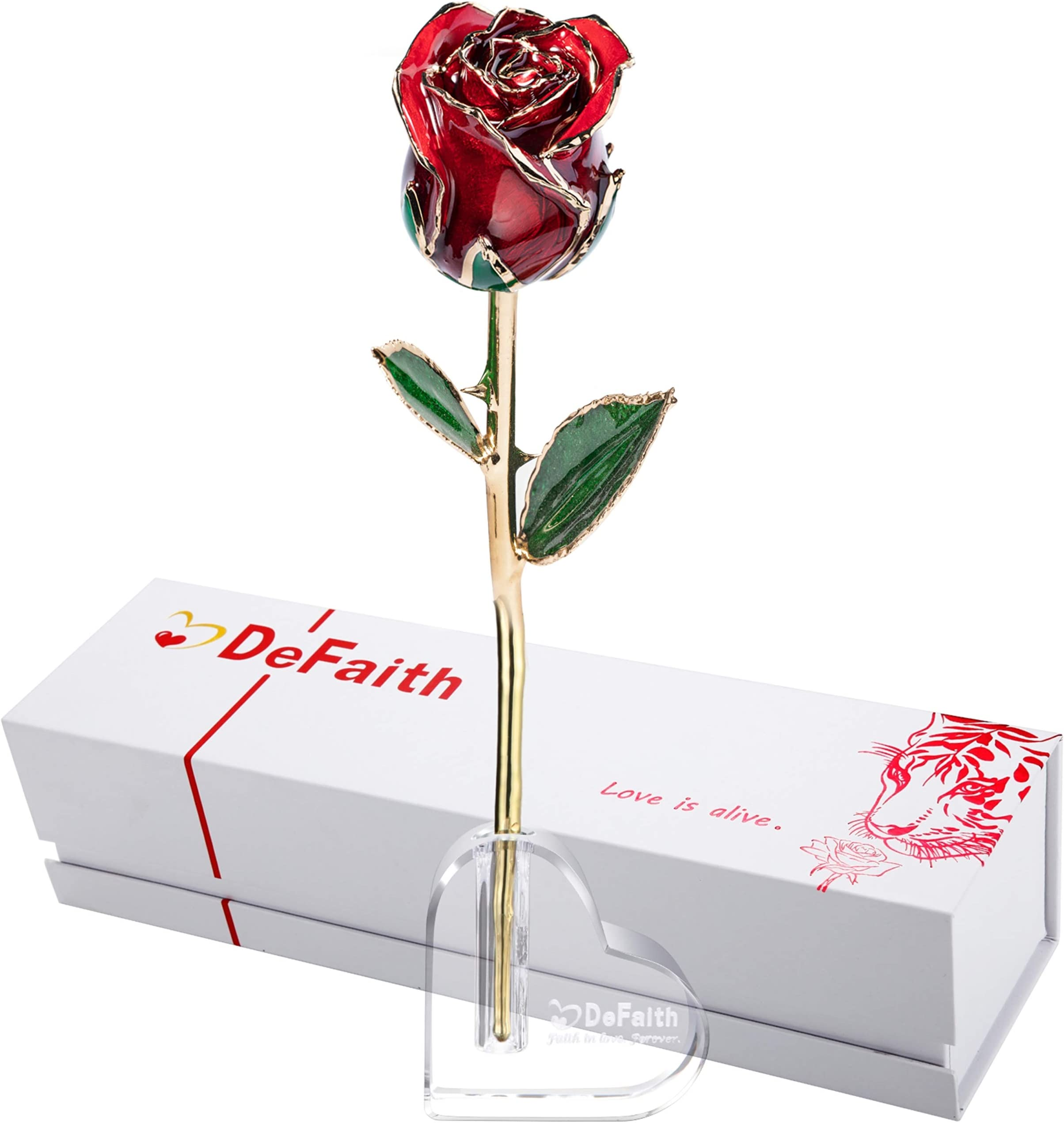 A Dozen Real Roses Long Stemmed Rose Bouquet in box 24K Real Roses You choose color Simply Beautiful !