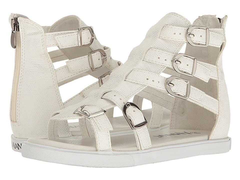 Amiana 15-A5380 (Toddler/Little Kid/Big Kid/Adult) (White Iridescent Snake) Girls Shoes