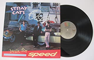 Brian Setzer signed autographed Stray Cats Built for speed Vinyl Album, COA with the Proof Photo will be included. STAR