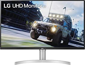 """LG 32UN550-W 32-Inch UHD (3840 x 2160) VA Monitor with HDR 10, AMD FreeSync and Itle/Height Adjustable Stand (31.5"""" Diagon..."""