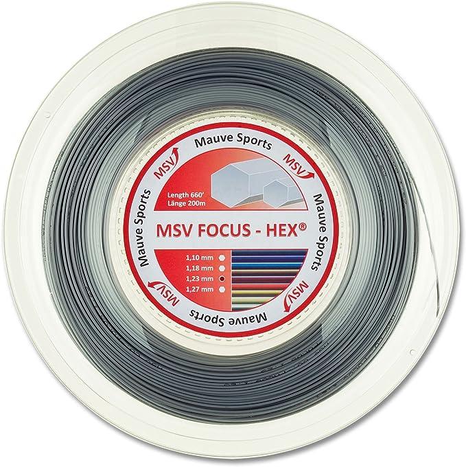 ø 1.10 mm Saitenrolle Tennis Saite NEU weiß MSV Focus Hex 200 m Rolle