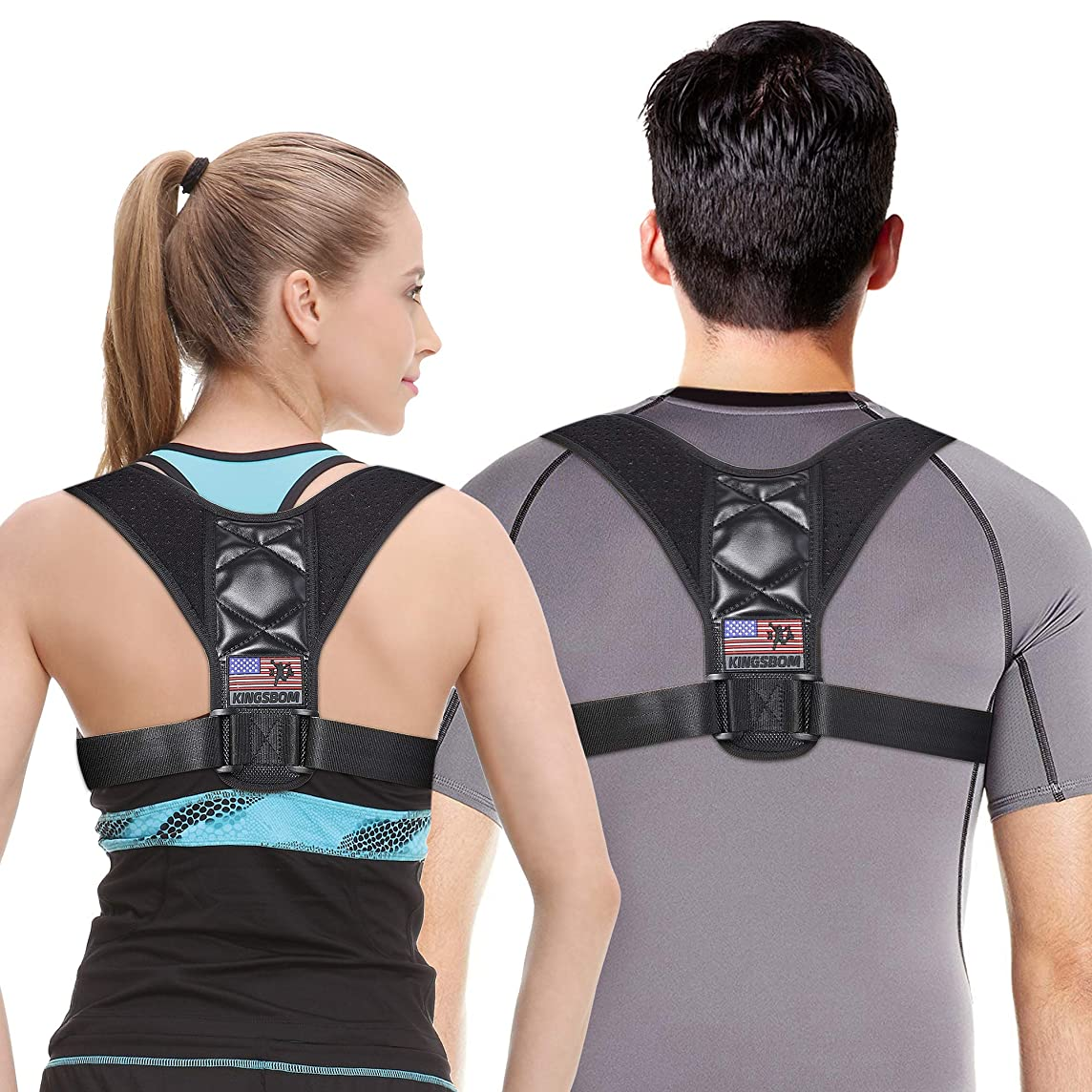 Back Posture Corrector for Women and Men, Upper Posture Back Brace for Correct Posture, Prevent Humpback and Provide Pain Relief from Neck,Back, Shoulder and Bad Posture (Black, M(Chest 27