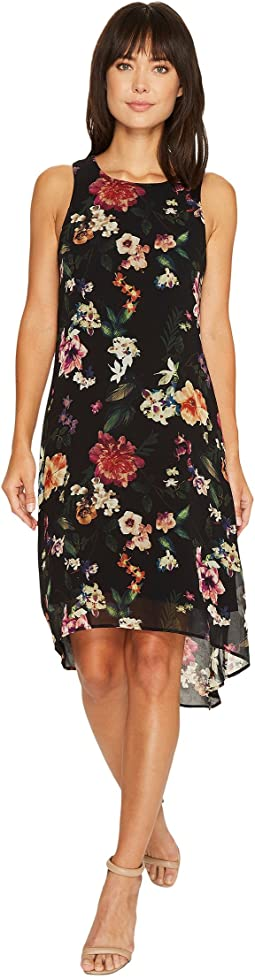Floral High-Low Hem Dress