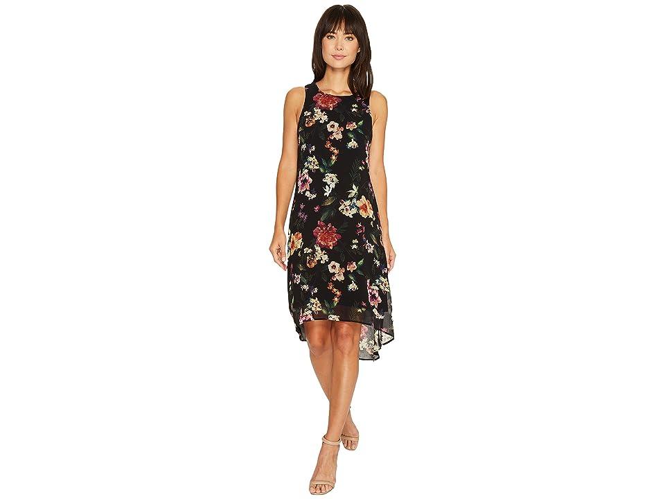 Karen Kane Floral High-Low Hem Dress (Print) Women