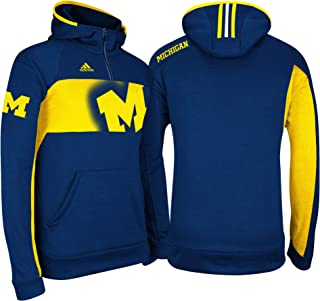 adidas Michigan Wolverines Youth Sideline Player Hooded Sweatshirt