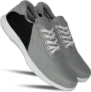 HEEDERIN Men's Grey Mesh Lace up Comfortable Sport's Shoe