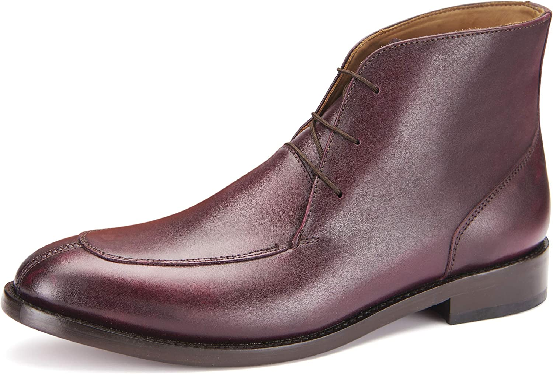 Samuel Windsor Men's Prestige Handmade Leather Leyton Boot Burgundy