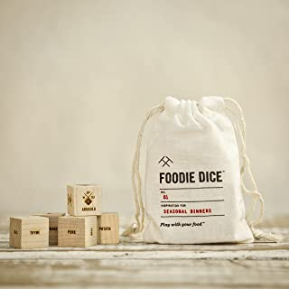 Foodie Dice® No. 1 Seasonal Dinners (pouch) // Foodie gift, Father's Day gift, cooking gift, date night, gift for dad