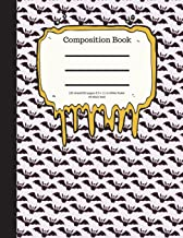 Composition Book 100 Sheet/200 Pages 8.5 X 11 In.-Wide Ruled- All Black Bats: Halloween Notebook for Kids - Student Journa...