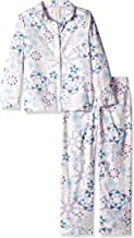 Gymboree Girls' Big 2-Piece Sleeve Long Bottoms Button Up Pajama Set