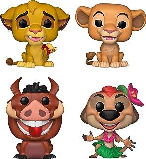 Funko Disney: POP! Lion King Collectors Set - Simba, Nala, Luau Pumbaa, Luau Timon