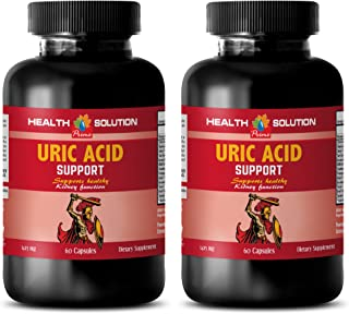 Energy Boost and Focus Supplement - Uric Acid Formula - Support Kidney Function - Kidney Support - 2 Bottles (120 Capsules)