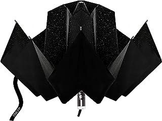 CAILYN 折りたたみ傘 超軽量 自動開閉 逆さ傘 逆さま傘 傘 メンズ レディース さかさま傘 折り畳み傘 逆折り式傘 日傘 晴雨傘 8本骨 ワンタッチ シンプル 折れにくい 濡れない 晴雨兼用 遮光 遮熱 耐風 収納ポーチ付き ギフト (ブラック)