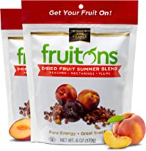 Traina Home Grown Fruitons California Sun Dried Summer Blend Fruit Mix - Peaches, Nectarines and Plums, No Sugar Added, No...