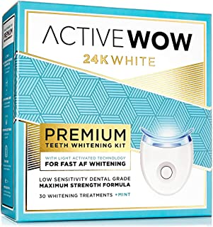 Active Wow Teeth Whitening Kit – LED Light, 36% Carbamide Peroxide, Mint –..