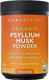 Sponsored Ad - Organic Psyllium Husk Powder (Orange) - Finely Ground Psyllium Fiber Powder for Easy Mixing, Everyday Psyll...