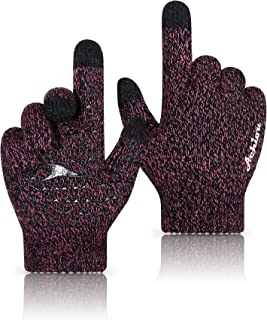 Winter Knit Gloves Thicken Warm Touchscreen Thermal Soft Lining Texting Generation Ⅱ Upgraded