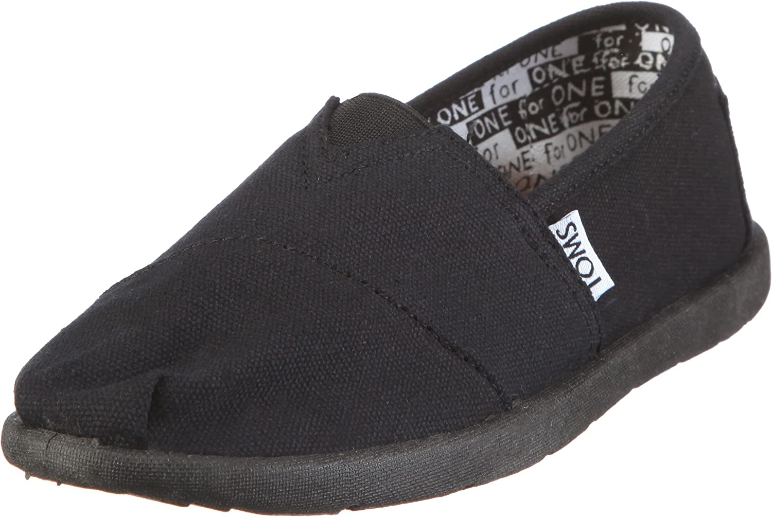 TOMS boys Toms Black Canvas Classic Youth 012001c10-blk