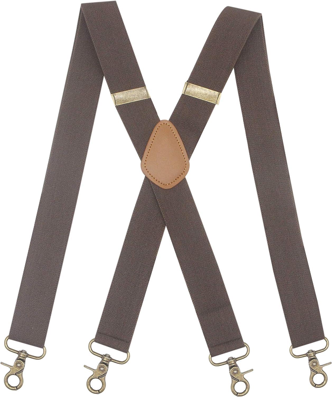 Mens Suspender 4 Swivel Strong C Hooks Elastic Braces Max 67% OFF lowest price Adjustable