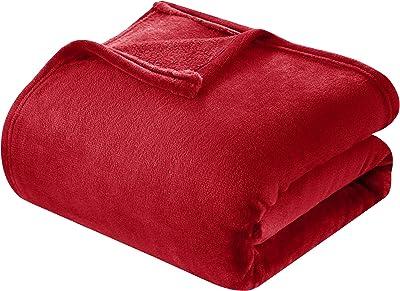 Chic Home Zahava 1 Piece Blanket Ultra Soft Fleece Microplush, Full/Queen, Red