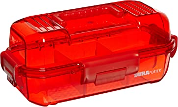 Heathrow Scientific HS120052 Duraporter Sealed Specimen Tote or Sample Transport Box, Polycarbonate, Water-Tight, Red