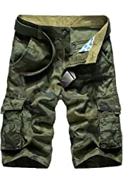 Kebinai Cargo Shorts Men Camouflage Military Home Cotton