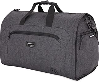 SWISSGEAR Full-Sized Folding Garment Duffel Bag Unwrinkled Clothes and suits | Carry-On Travel Luggage | Men's and Women's - Heather