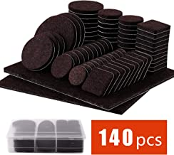 Felt Furniture Pads 140 Pcs - Self Adhesive Floor Protector Chair Pads Variety Pack - Wood Furniture Noise Reduction Bumpers & Protectors for Hardwood & Laminate Flooring