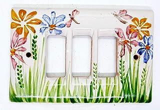 Placchette Bticino Magic Fiori del Sorriso Ceramica Handmade Le Ceramiche del Castello Made in Italy