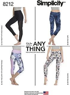 Simplicity 8212 Women's Knit Leggings Sewing Pattern, Sizes XXS-XXL