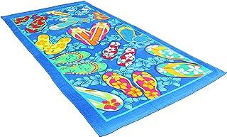 "J & M Home Fashions Fiber Reactive Beach Towel, 30 by 60"", Summer Sandals"