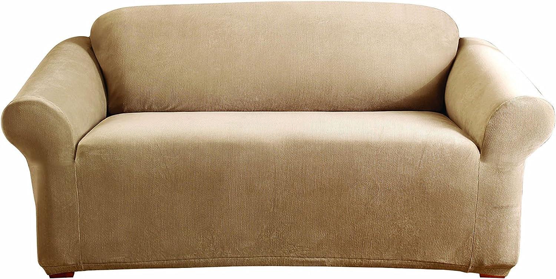 SureFit Stretch Pearson - Loveseat Dark Ranking TOP16 Elegant Flax Slipcover