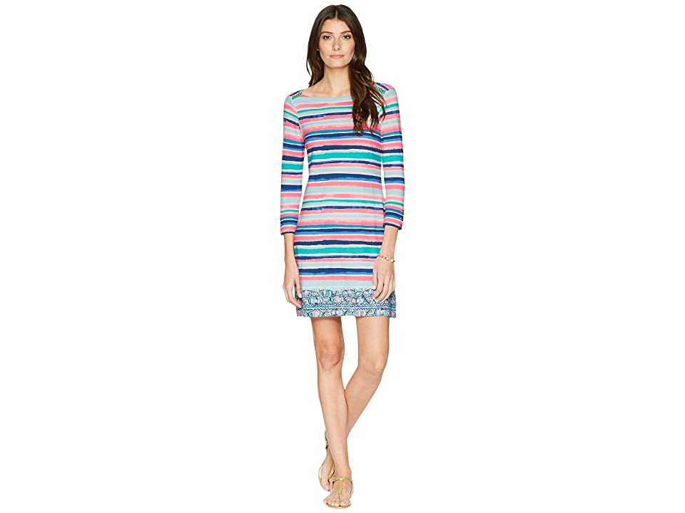 Lilly Pulitzer UPF 50+ Sophie Dress (Multi Sandy Shell Stripe Engineered) Women