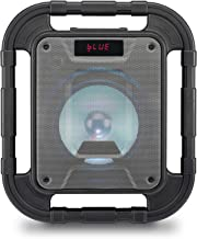 iLive ISBW519B Water Resistant Wireless Speaker, with LED Light Effects and Built-in Rechargeable Battery, Black